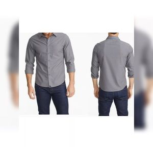 Men's Untuckit Sangiovese Gray Medium Tall Slim